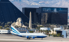 Increased air travel and gambling wins for Las Vegas